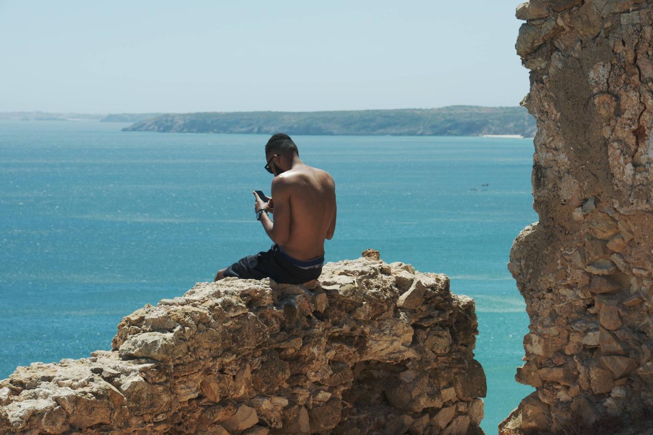 Klippen von Algarve