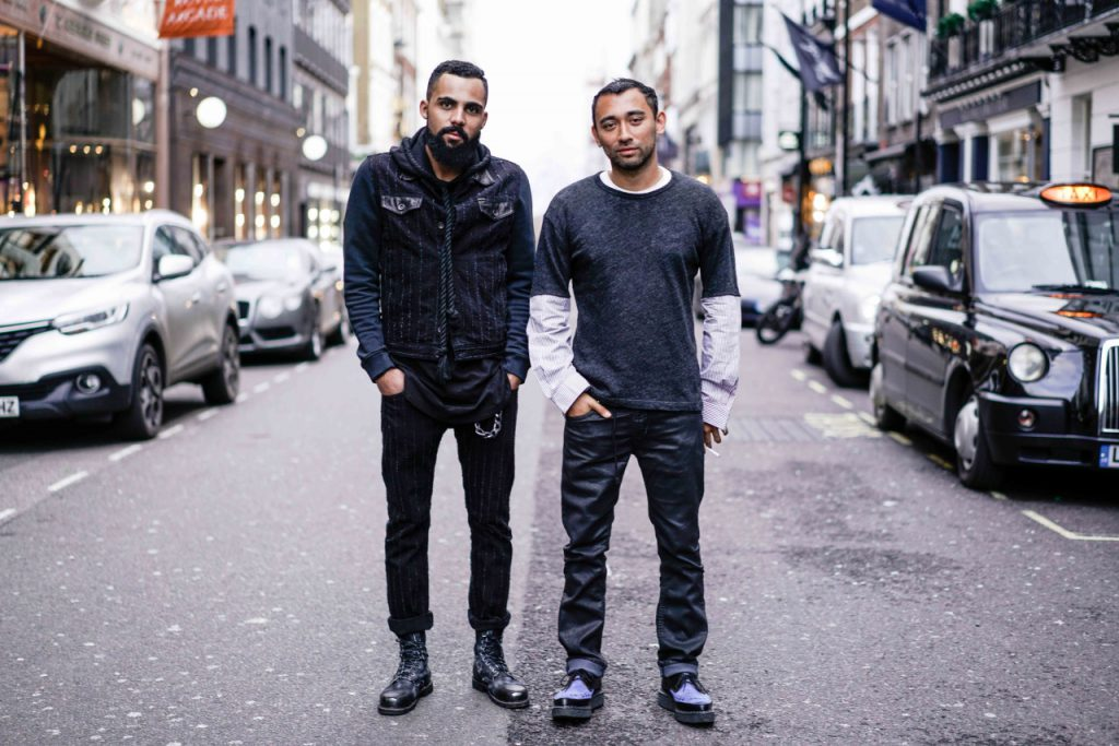 Jean-Claude Mpassy and Nicola Formichetti in London during London Collections Men