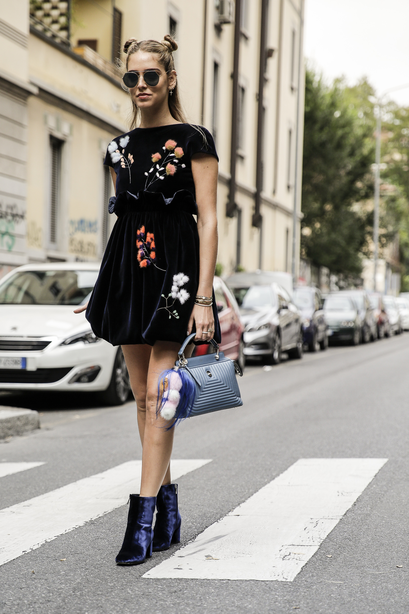 Chiara Ferragni at the Fendi SS17 Show during Milan Fashion Week