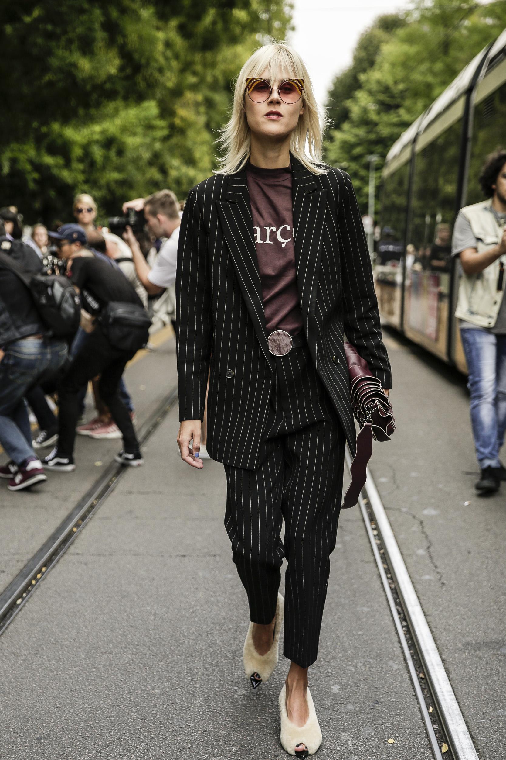 Linda Tol before the Fendi SS17 Show during Milan Fashion Week