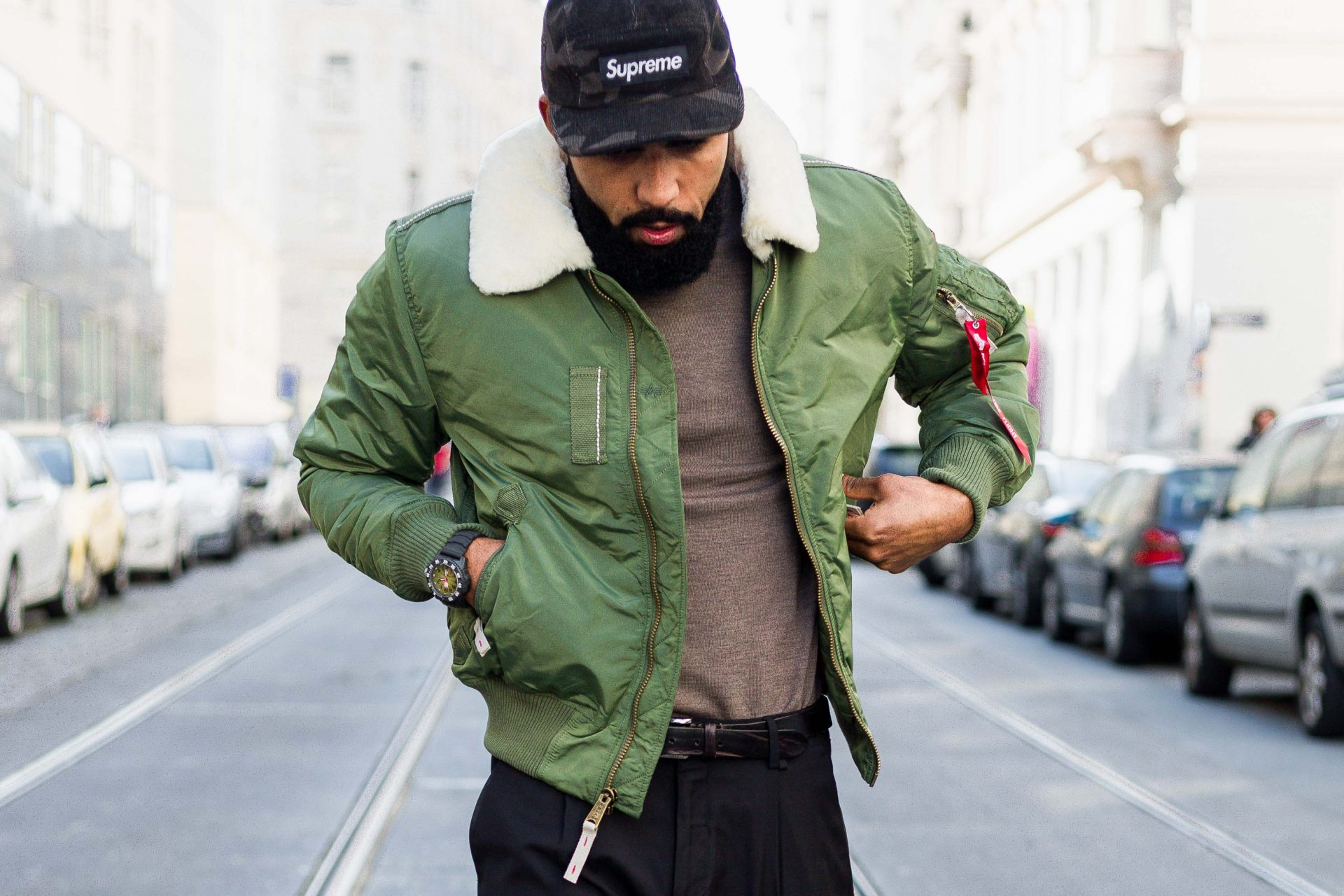 Street Style Men Alpha Bomber Jacket