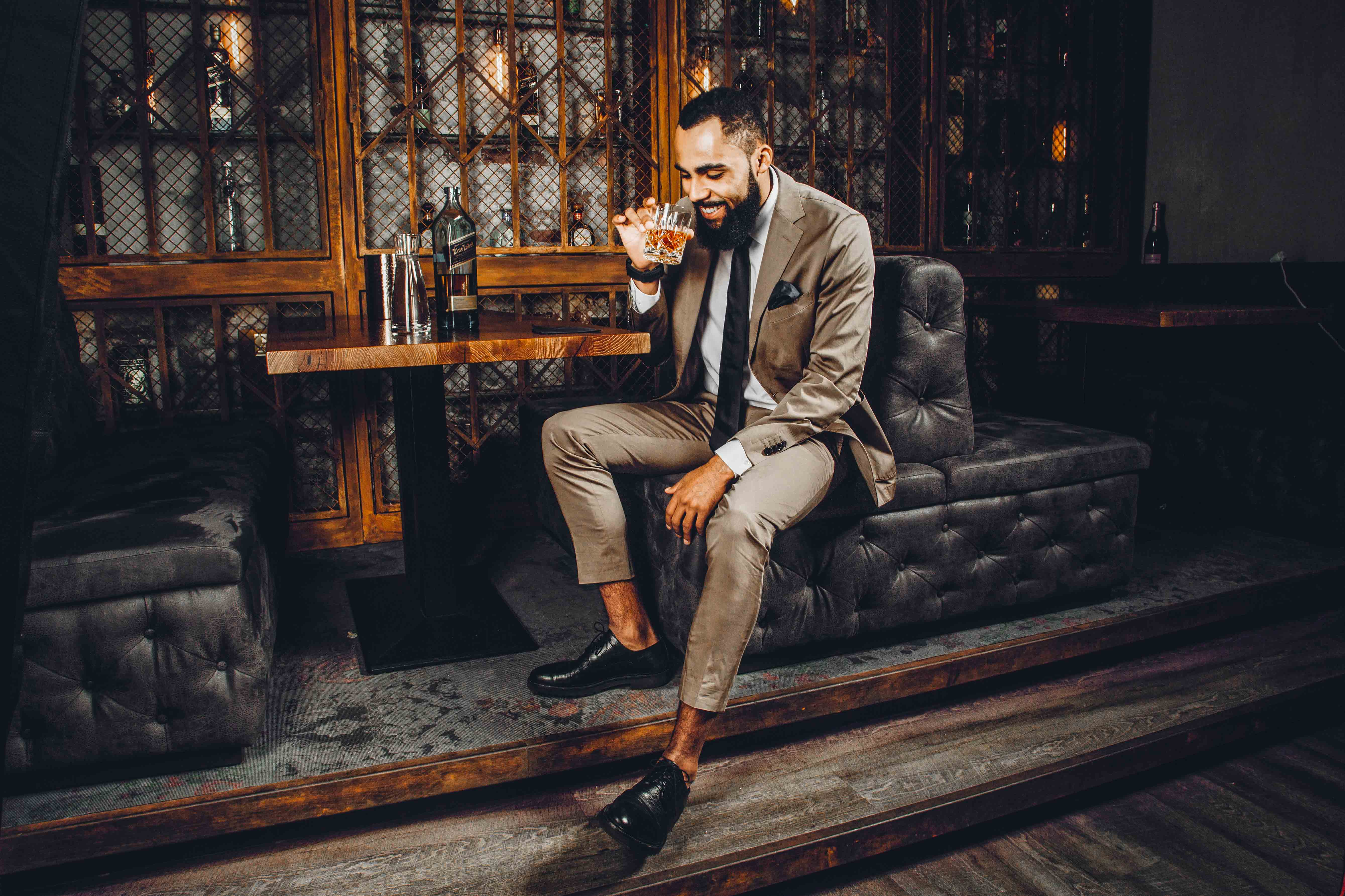 Jean-Claude Mpassy from New Kiss on the Blog for Johnnie Walker