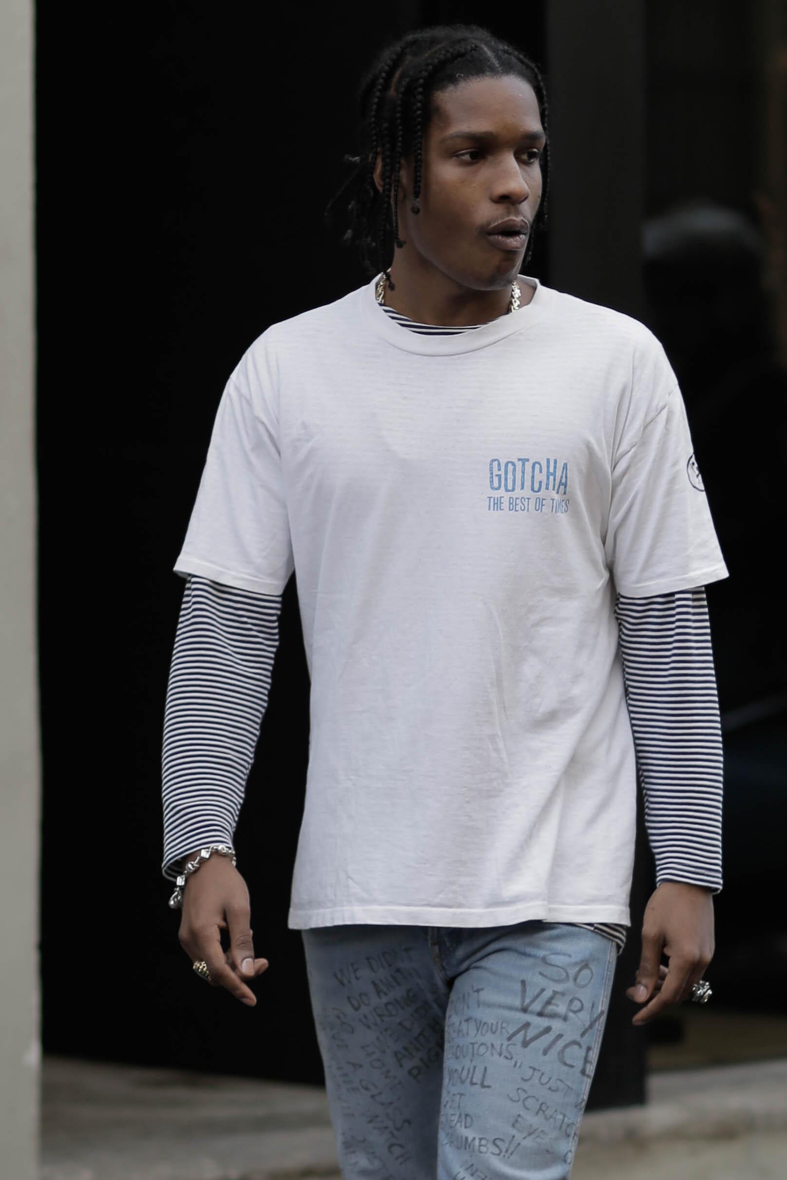 A$AP Rocky Street Style in Milan
