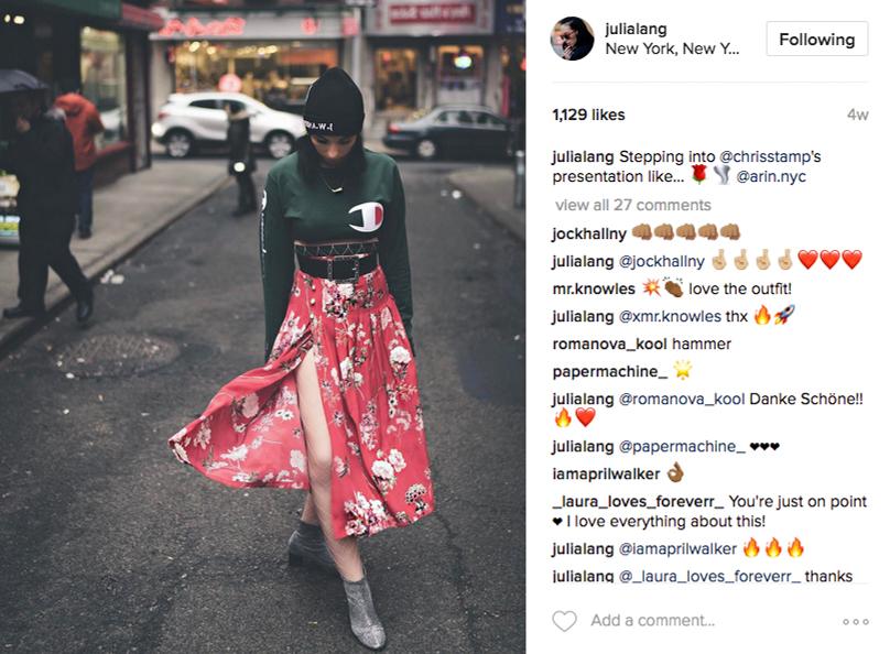 Julia Lang Instagram