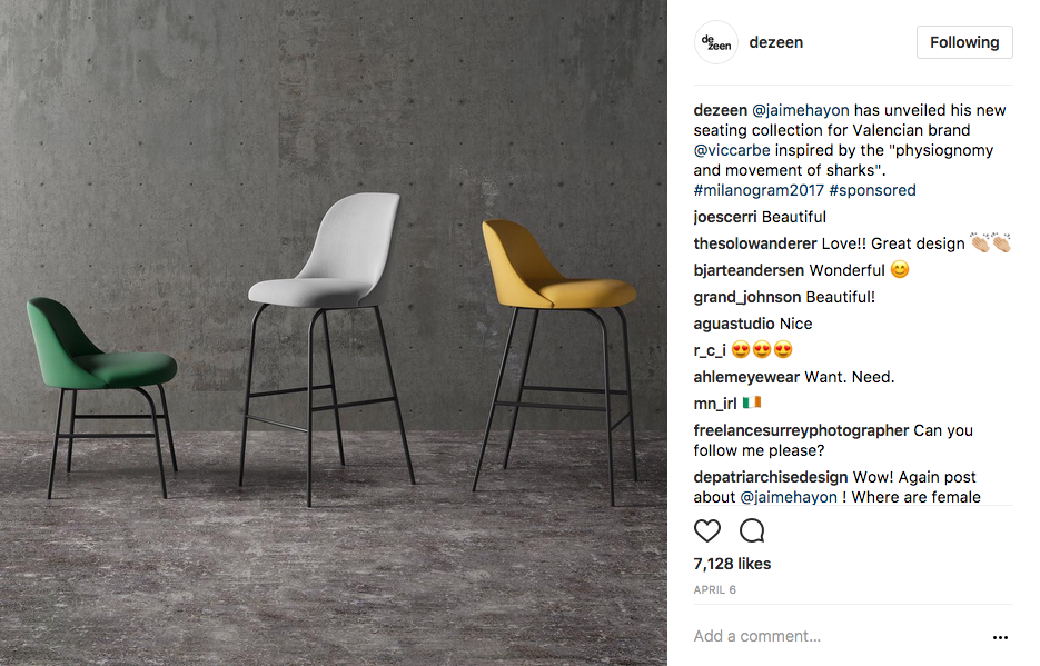 dezeen Instagram Account