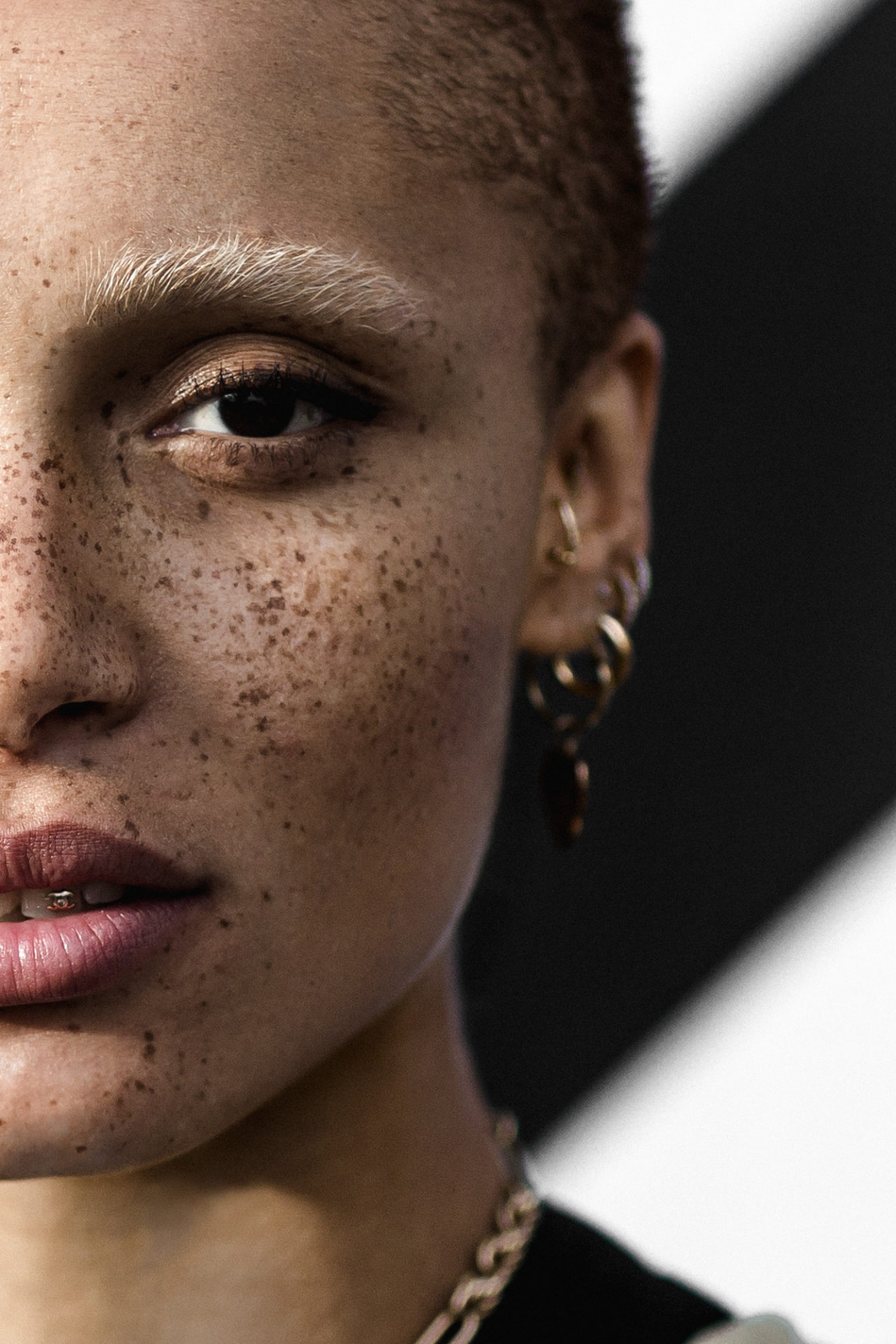 Portrait of Adwoa Aboah at the Bread and Butter Pre Event in Berlin
