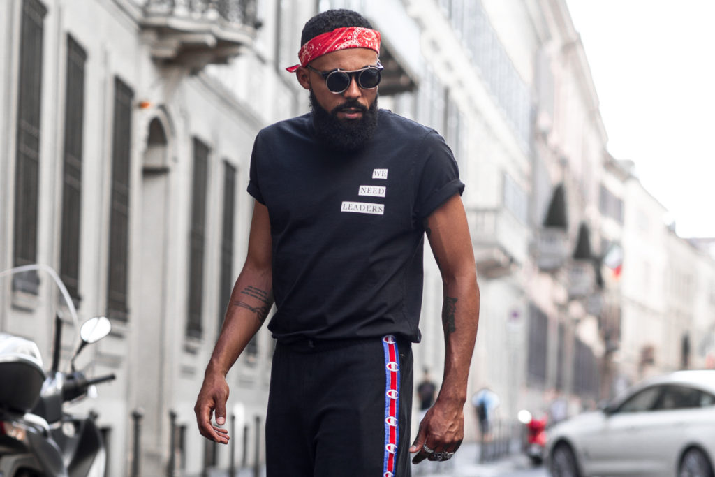 Street Style Shot of Jean-Claude Mpassy from New Kiss on the Blog in Milan