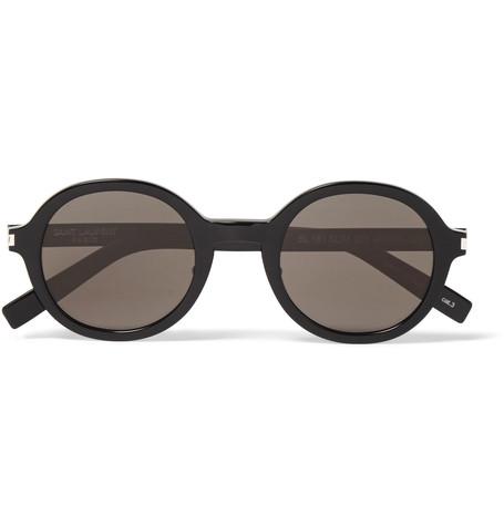 Saint LaurentClassic 161 Slim Round-Frame Acetate Sunglasses