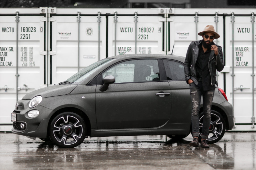 street style shoot with the fiat 500s