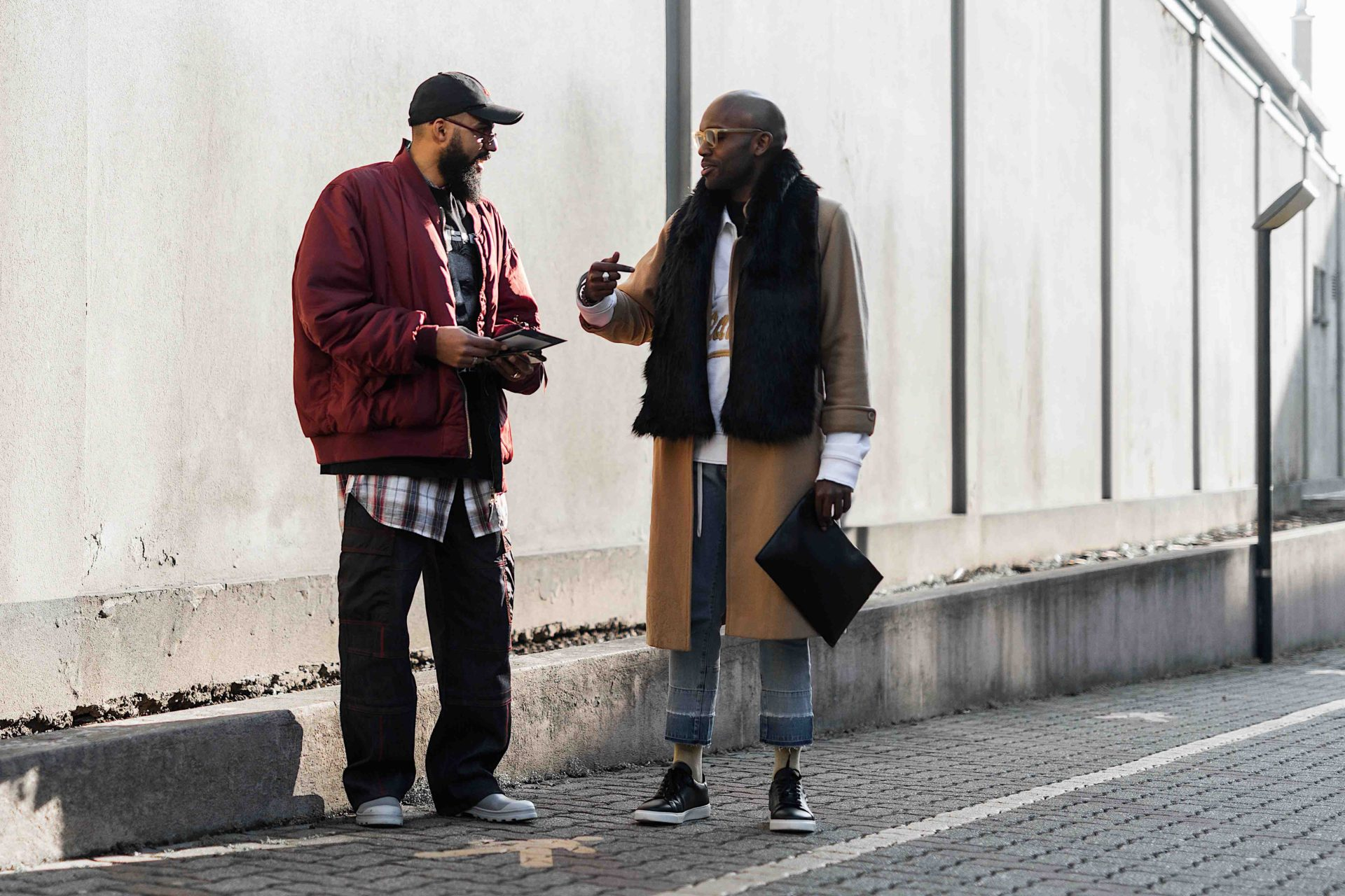 Jean-Claude Mpassy and Geoff K. Cooper during Milan Fashion Week