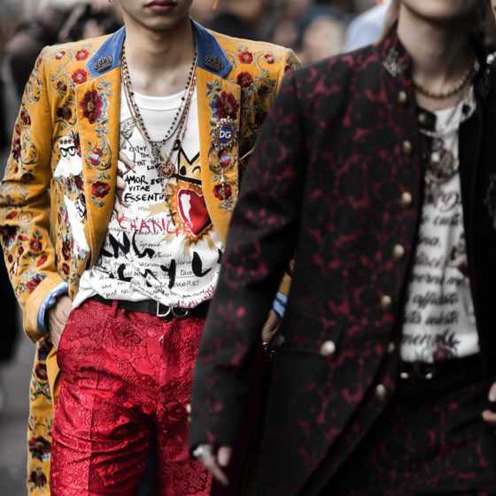 Street Style from Milan Fashion Week AW18 before the Dolce & Gabbana Show
