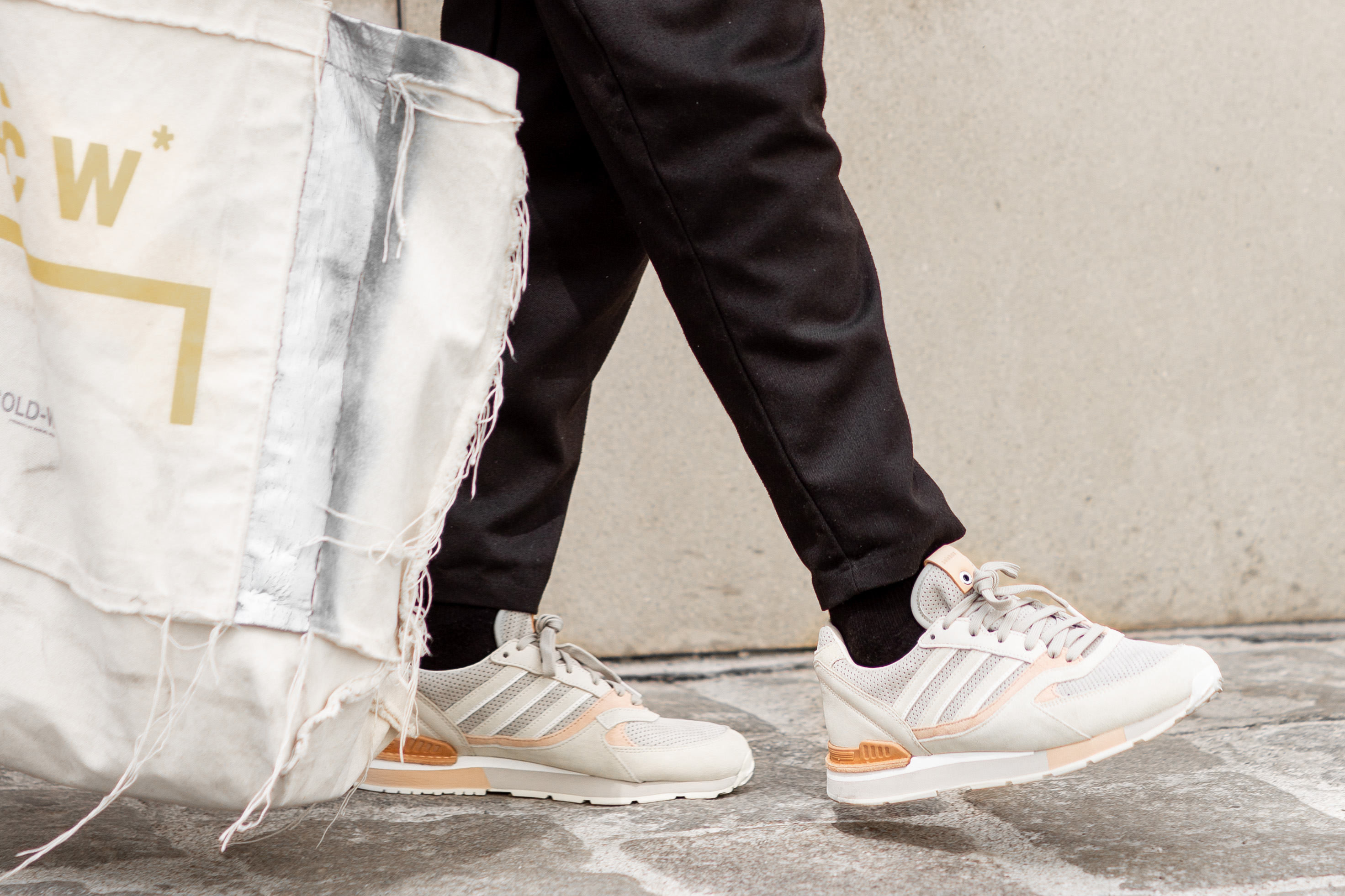 Street Style: Jean-Claude Mpassy from New Kiss on the Blog wearing Adidas X Solebox Sneakers