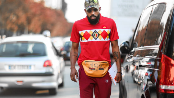 Soccer Jersey Trend during Milan Fashion Week