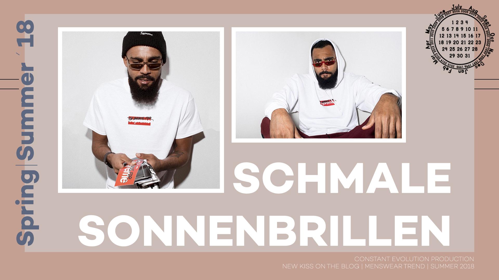 Modetrend 2018: Schmale Sonnenbrillen
