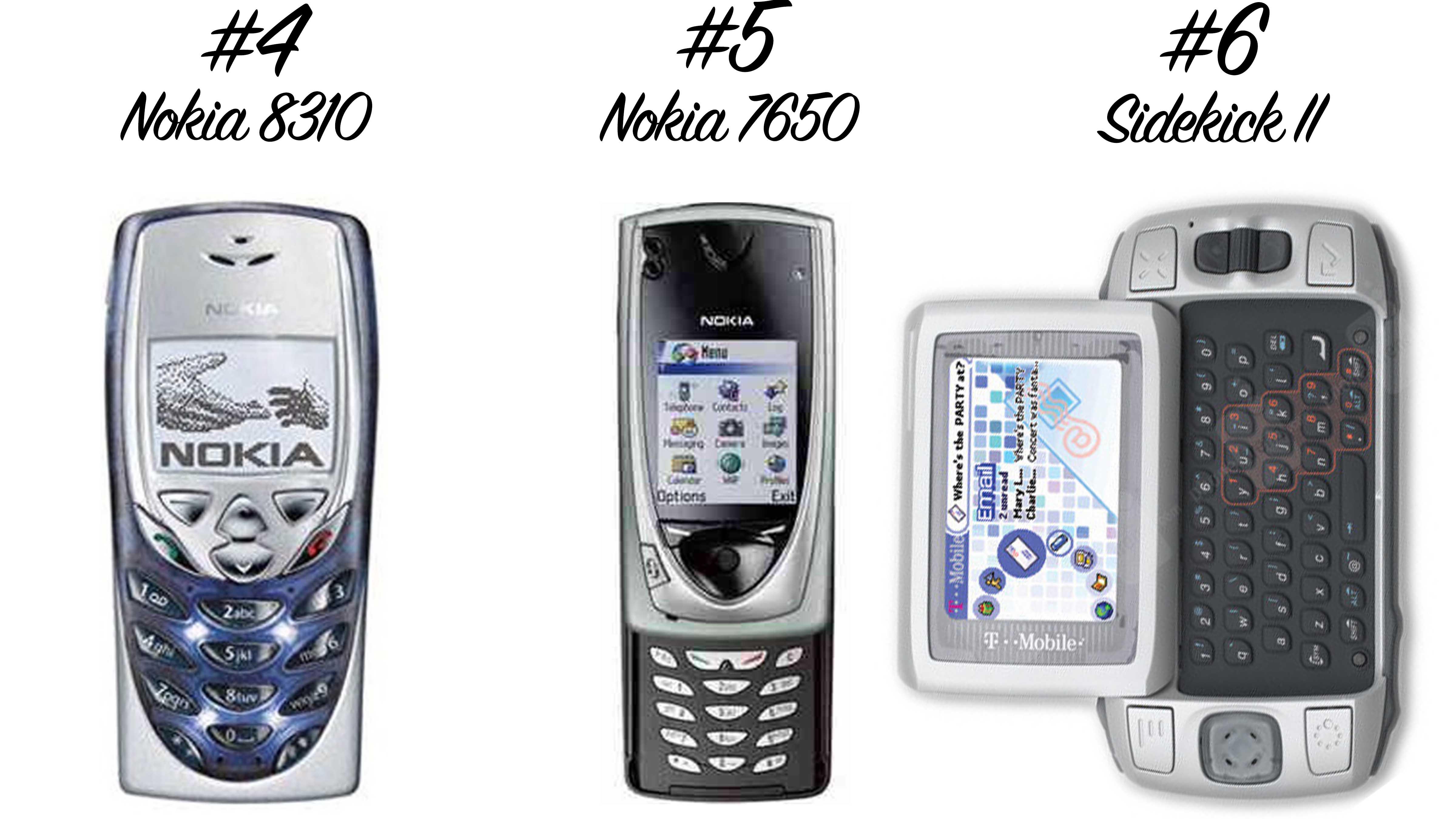 Retro Handys: Nokia 8310, Nokia 7650, Sikekick II