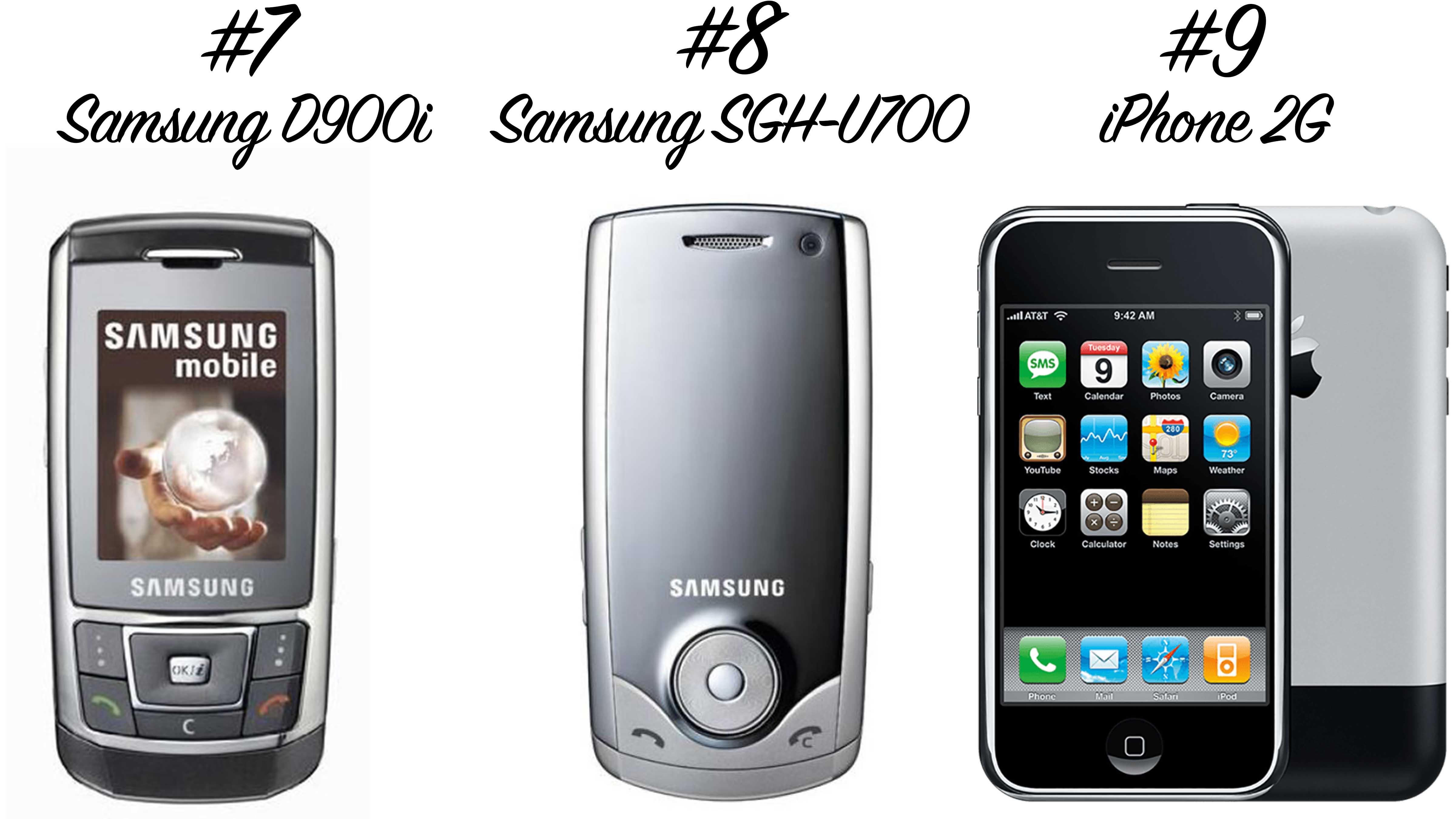 Retro Handys: Samsung D900i, Samsung SGH-U700, iPhone 2G