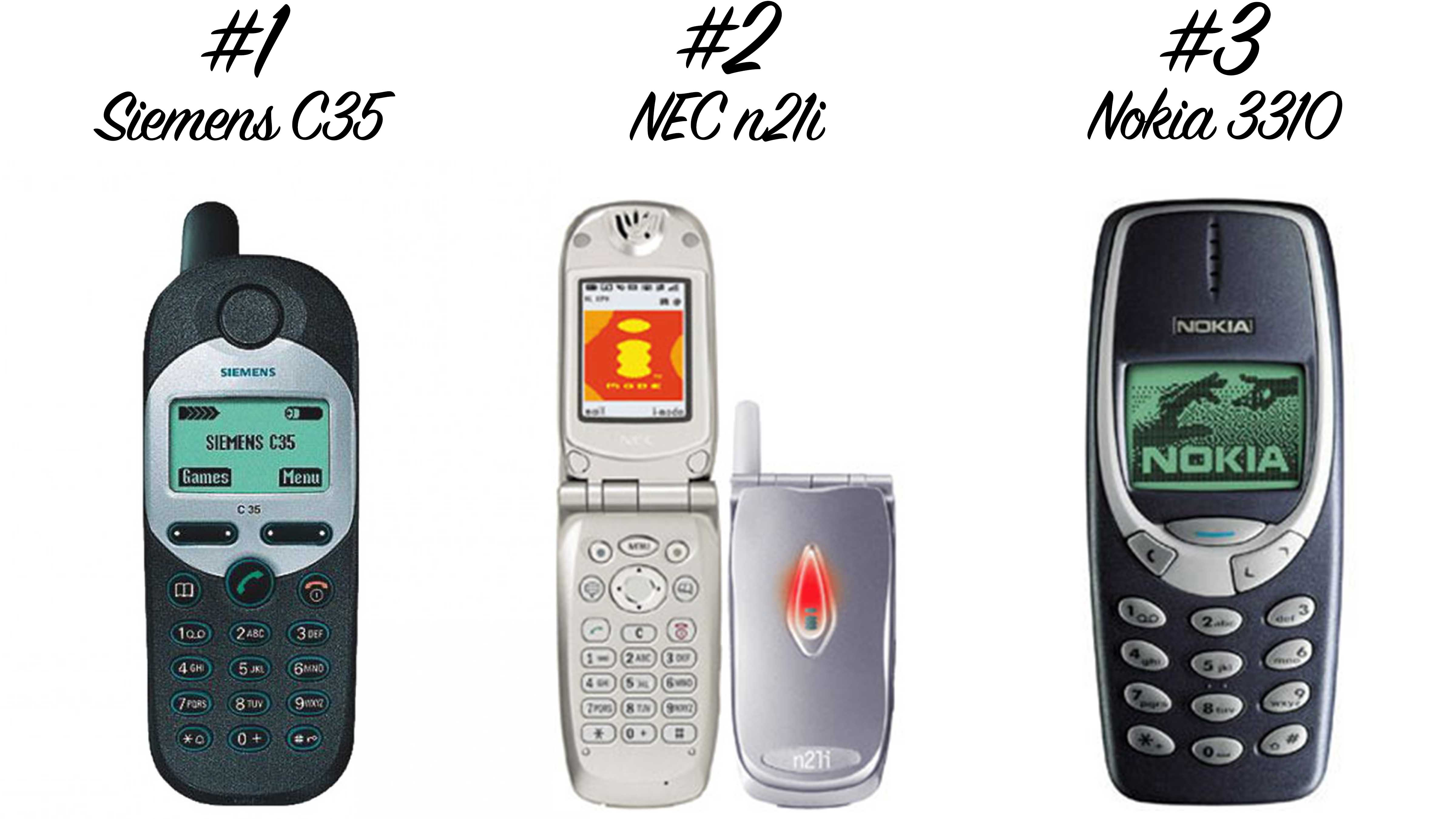 Retro Handys: Siemens C35, NEC n21i, Nokia 3310