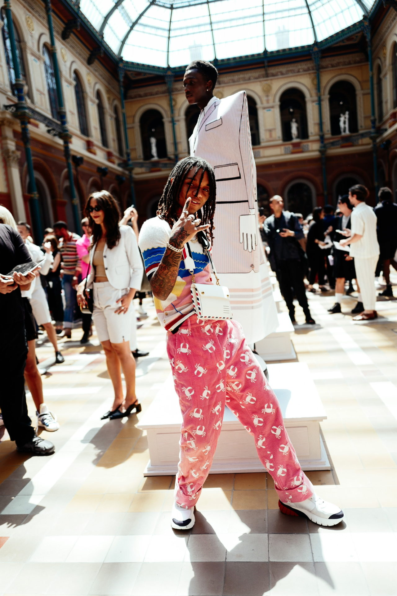 Paris Fashion Week Men's: Backstage at Thom Browne SS20 with Swae Lee