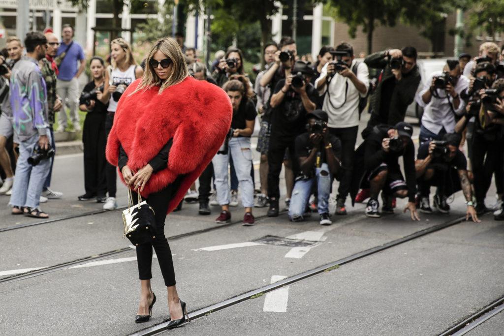 Street Style at the Fendi SS17 Show during Milan Fashion Week
