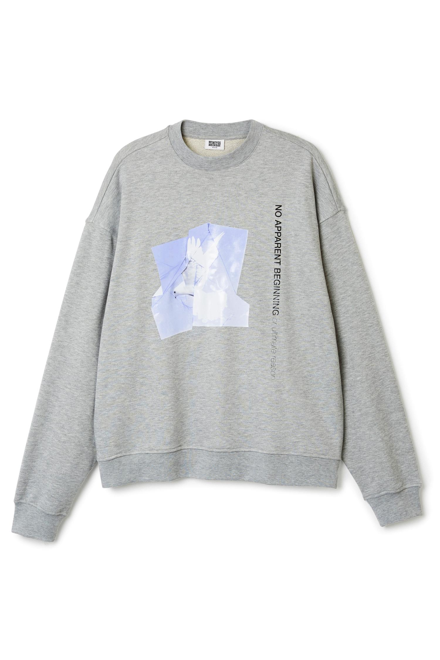 Grey printed Weekday Sweater