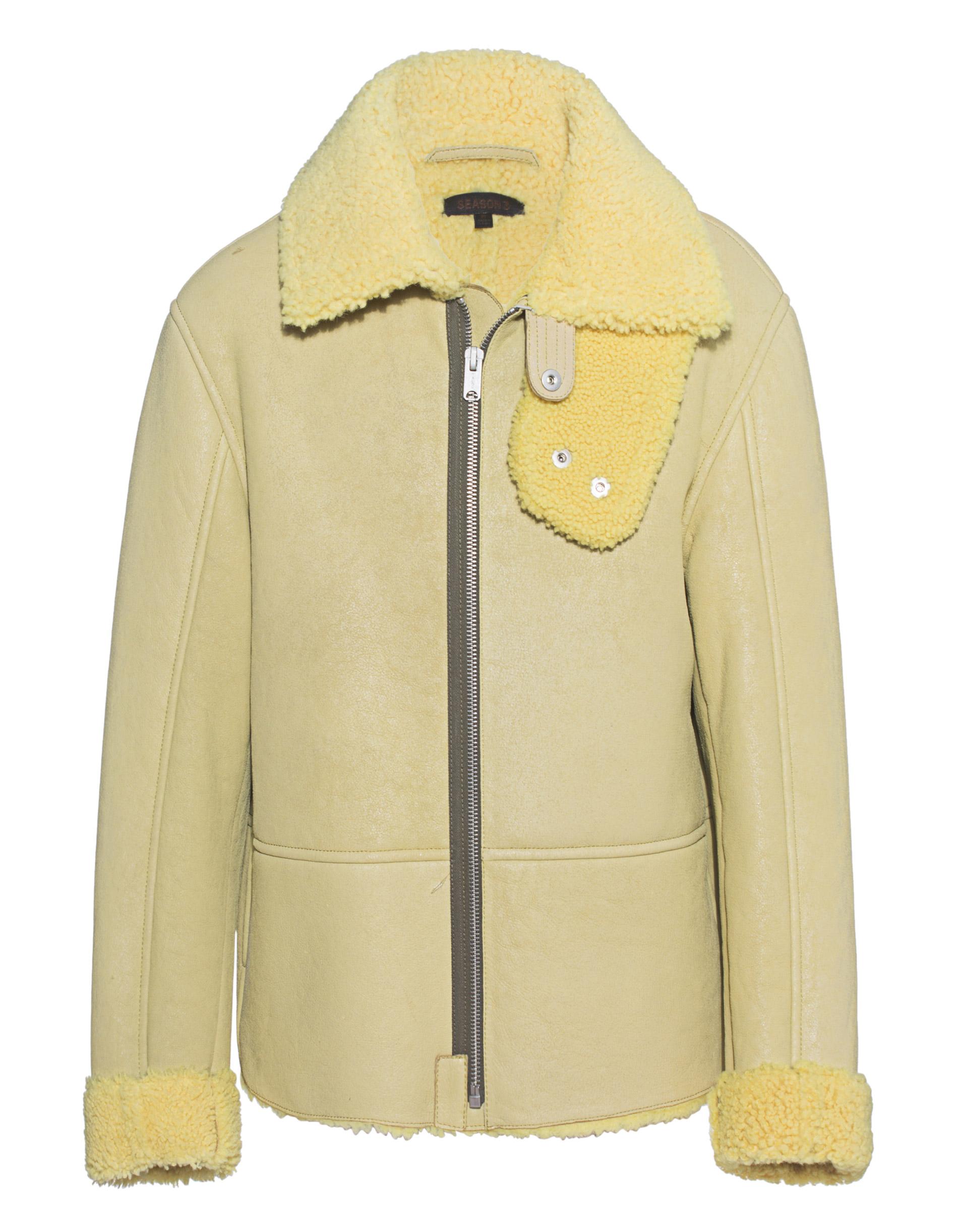 Yellow Fur Jacket Yeezy Season 3