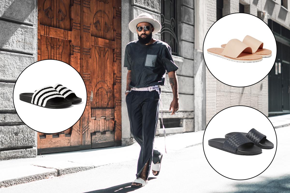 Men's Slides Street Style Trend