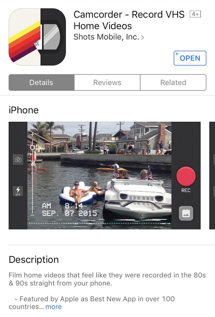 Top Instagram Apps - Camcorder