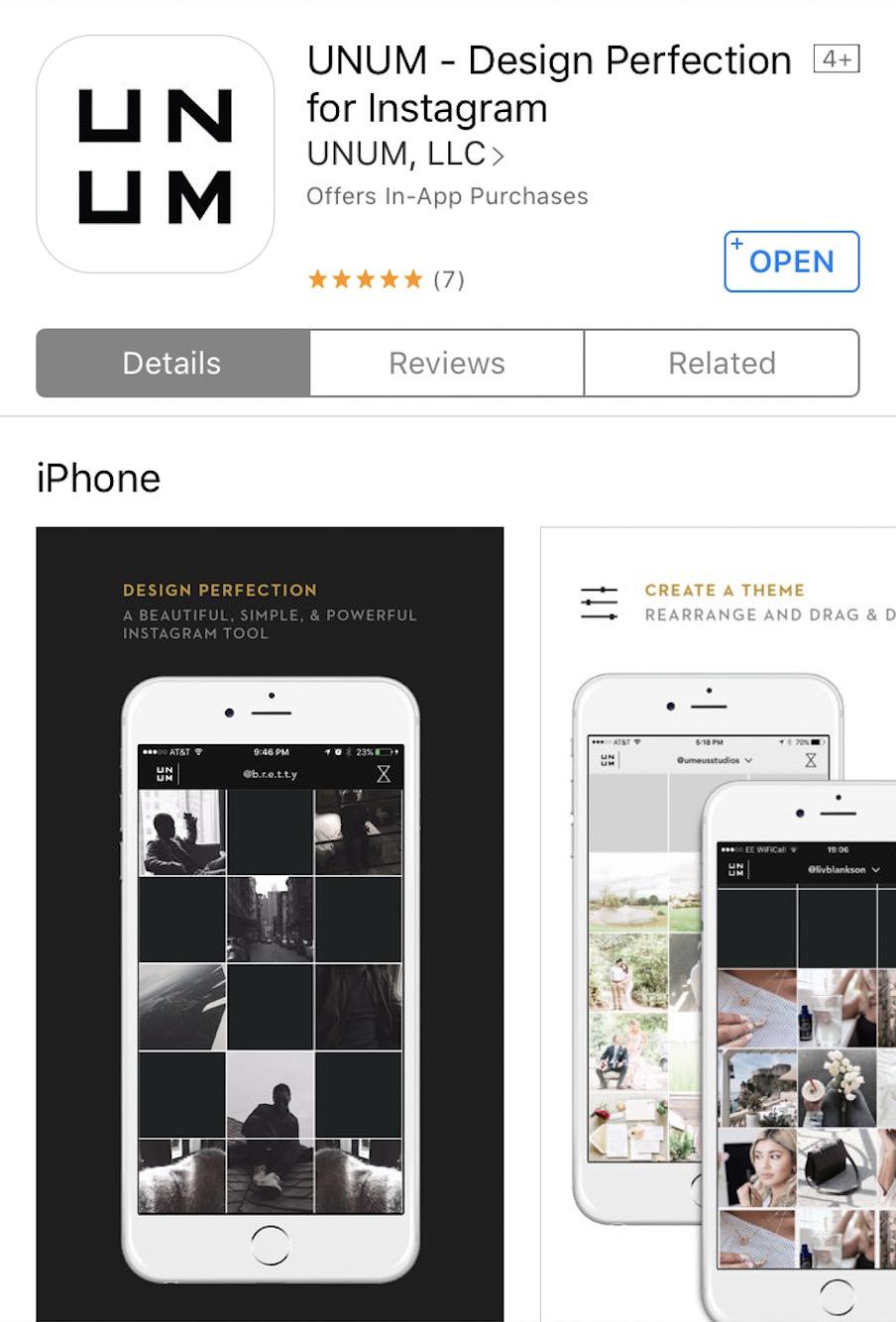 Top Instagram Apps - UNUM