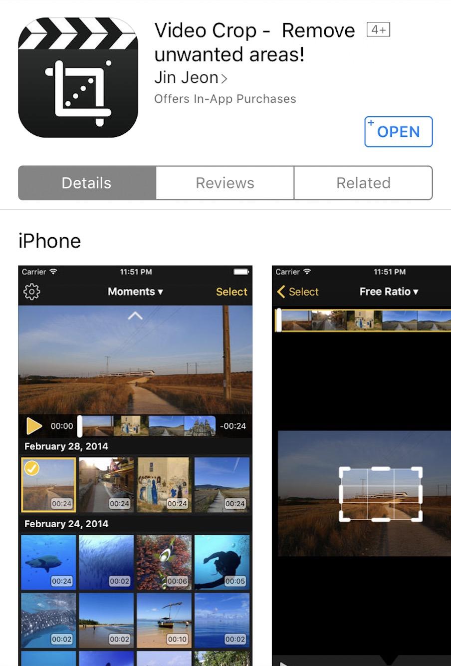 Top Instagram Apps - Video-Crop