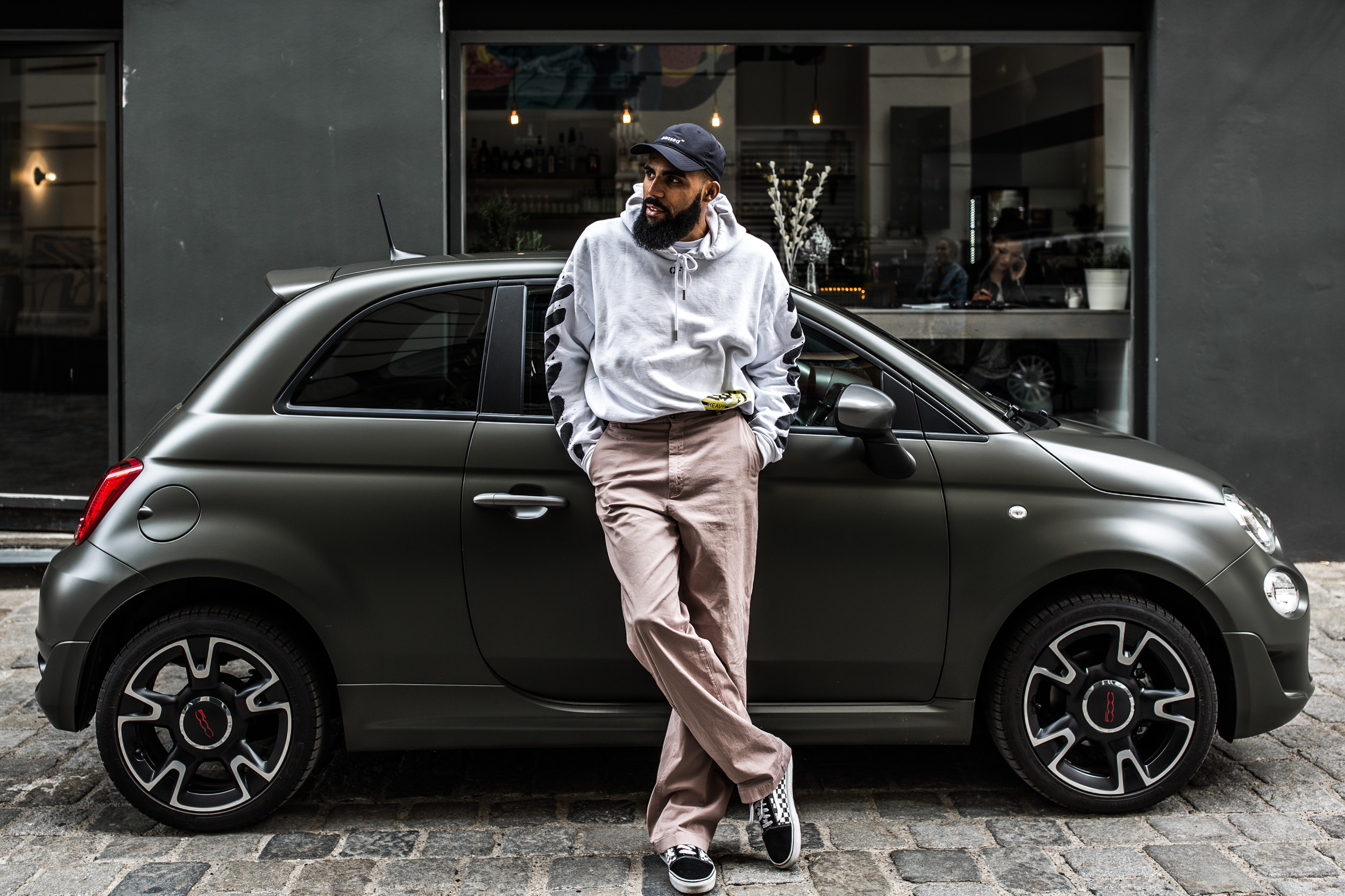 New Kiss on the Blog with his Fiat 500S