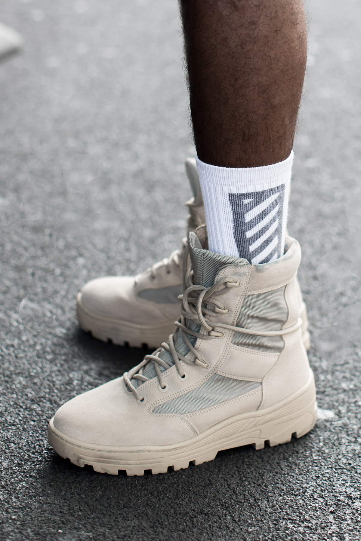 Street Style Picture of the Yeezy Boots