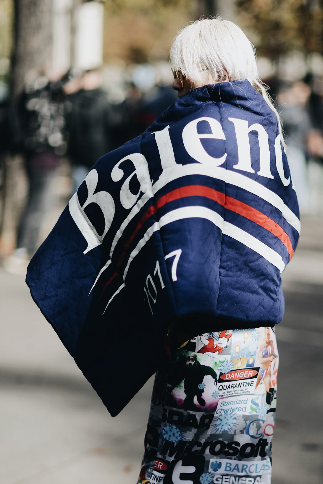 Street Style during Paris Fashion Week: Balenciaga