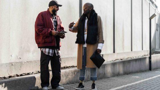 Jean-Claude Mpassy and Geoff K. Cooper during Milan Fashion Week