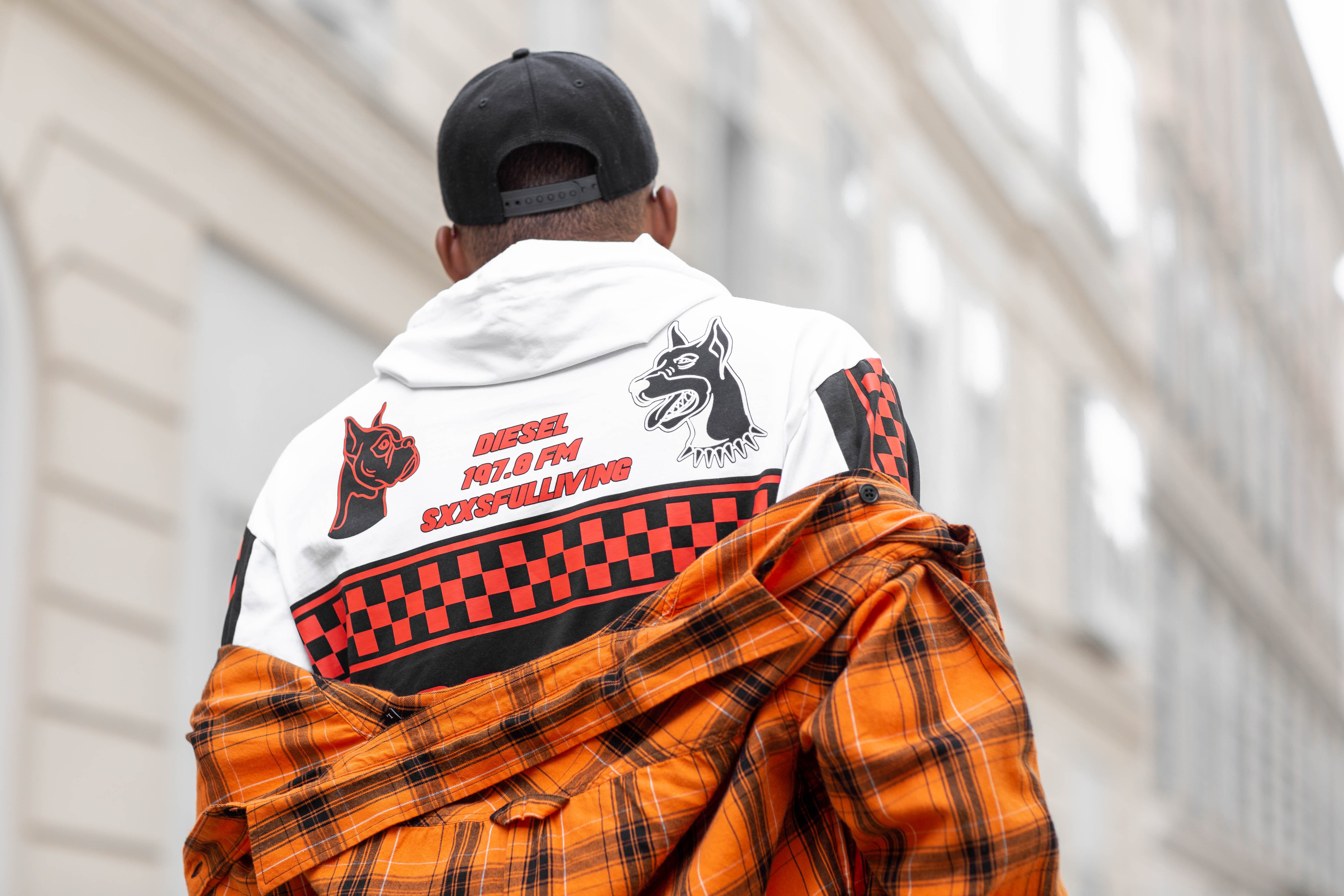 Street Style: Jean-Claude Mpassy from New Kiss on the Blog wearing Diesel FW19
