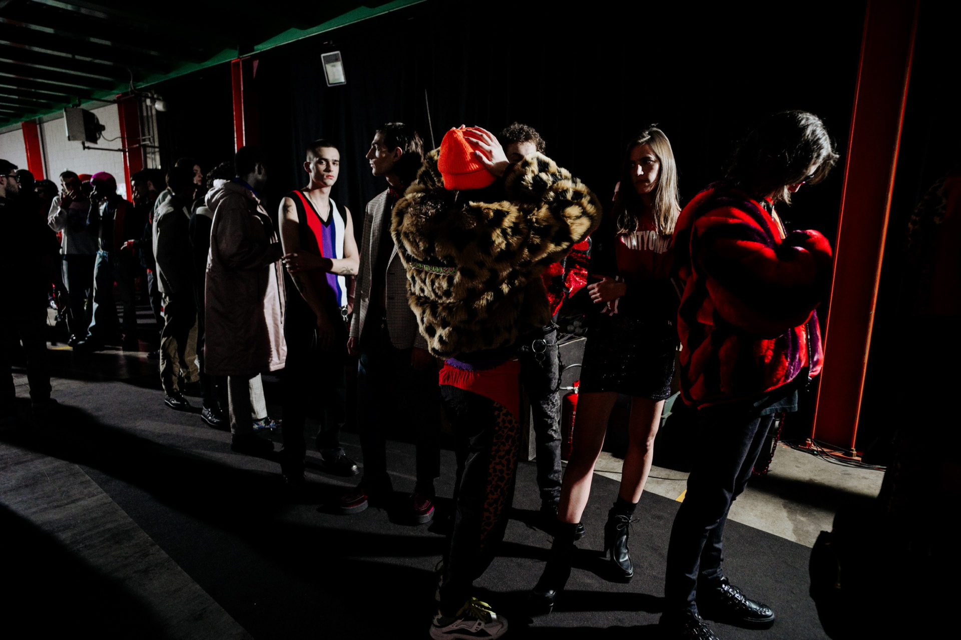 Backstage at County of Milan Marcelo Burlon | Milan Fashion Week AW19
