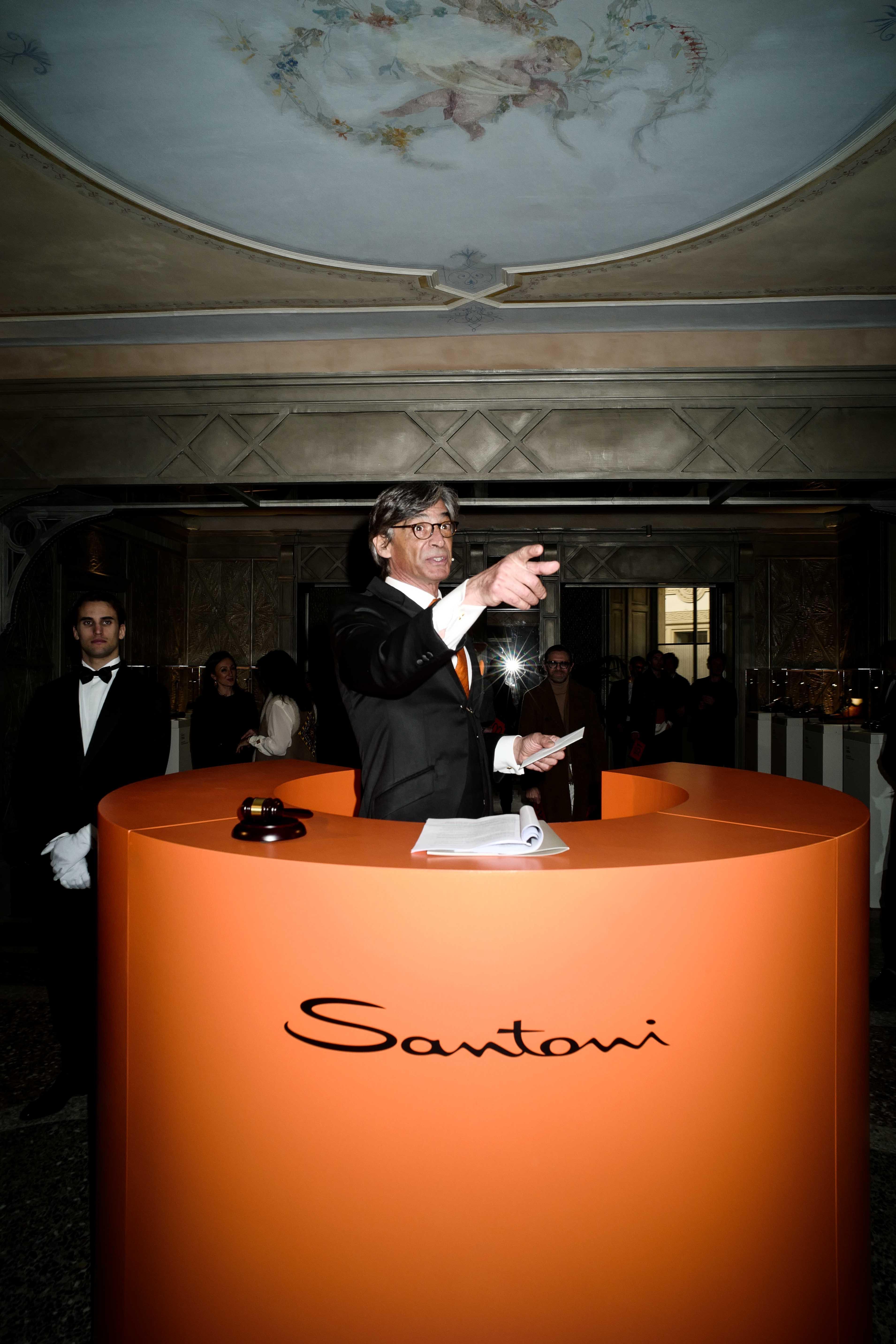 Milan Fashion Week: Santoni Fall/Winter 19 Präsentation