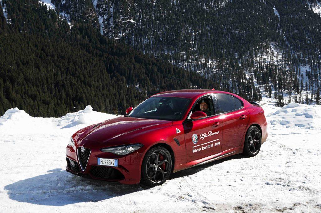 Alfa Romeo Winter Tour 2019 mit dem Alfa Romeo Stelvio Quadrifoglio