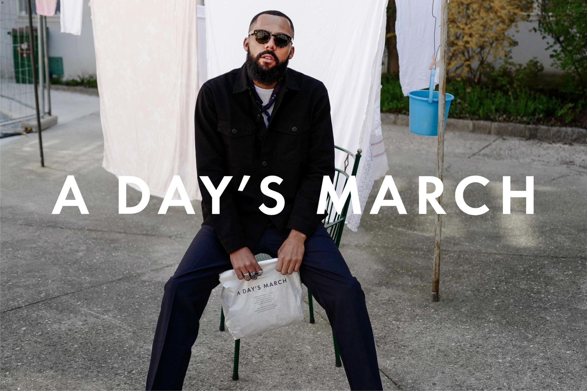 Jean-Claude Mpassy wearing A Day's March