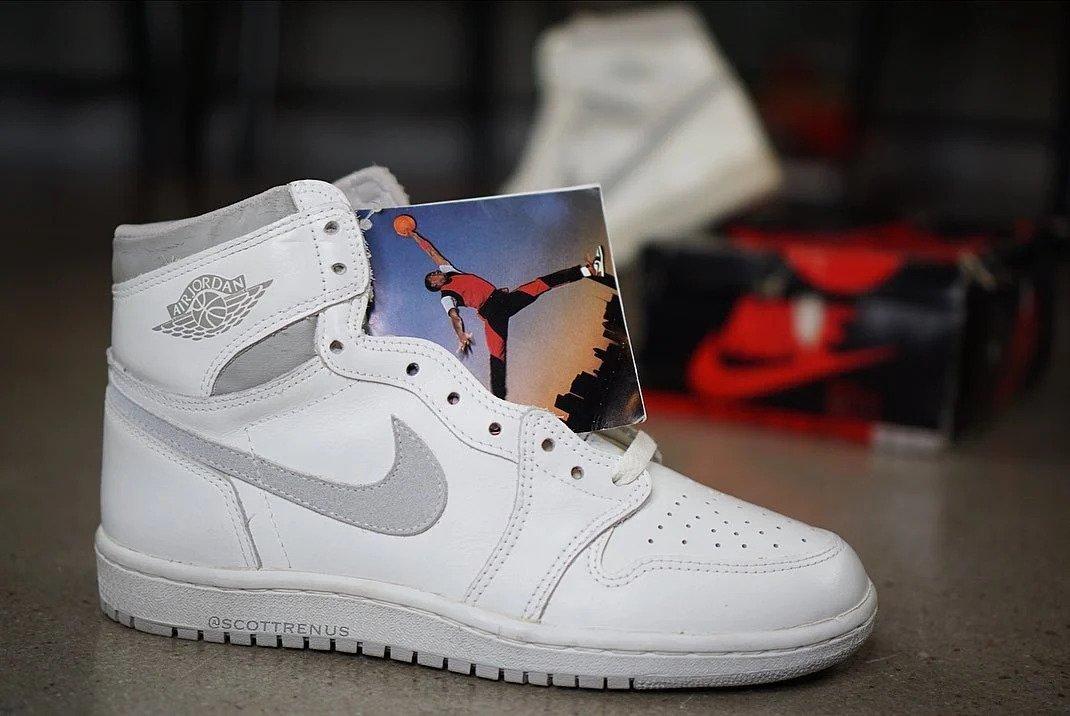 """Sneaker Releases 2021: Air Jordan 1 High OG '85 """"Natural Grey"""""""
