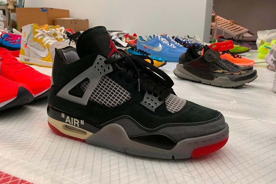 "Sneaker Releases 2021: OFF-White x Air Jordan 4 ""Bred"""