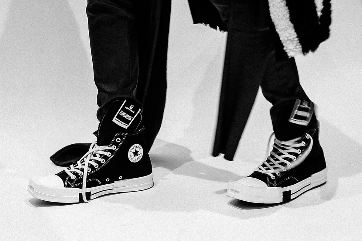 Sneaker Collaborations der Paris Fashion Week AW21: Converse X Rick Owens